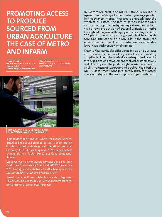 Promoting access to produce sourced from urban agriculture: the case of METRO and Infarm