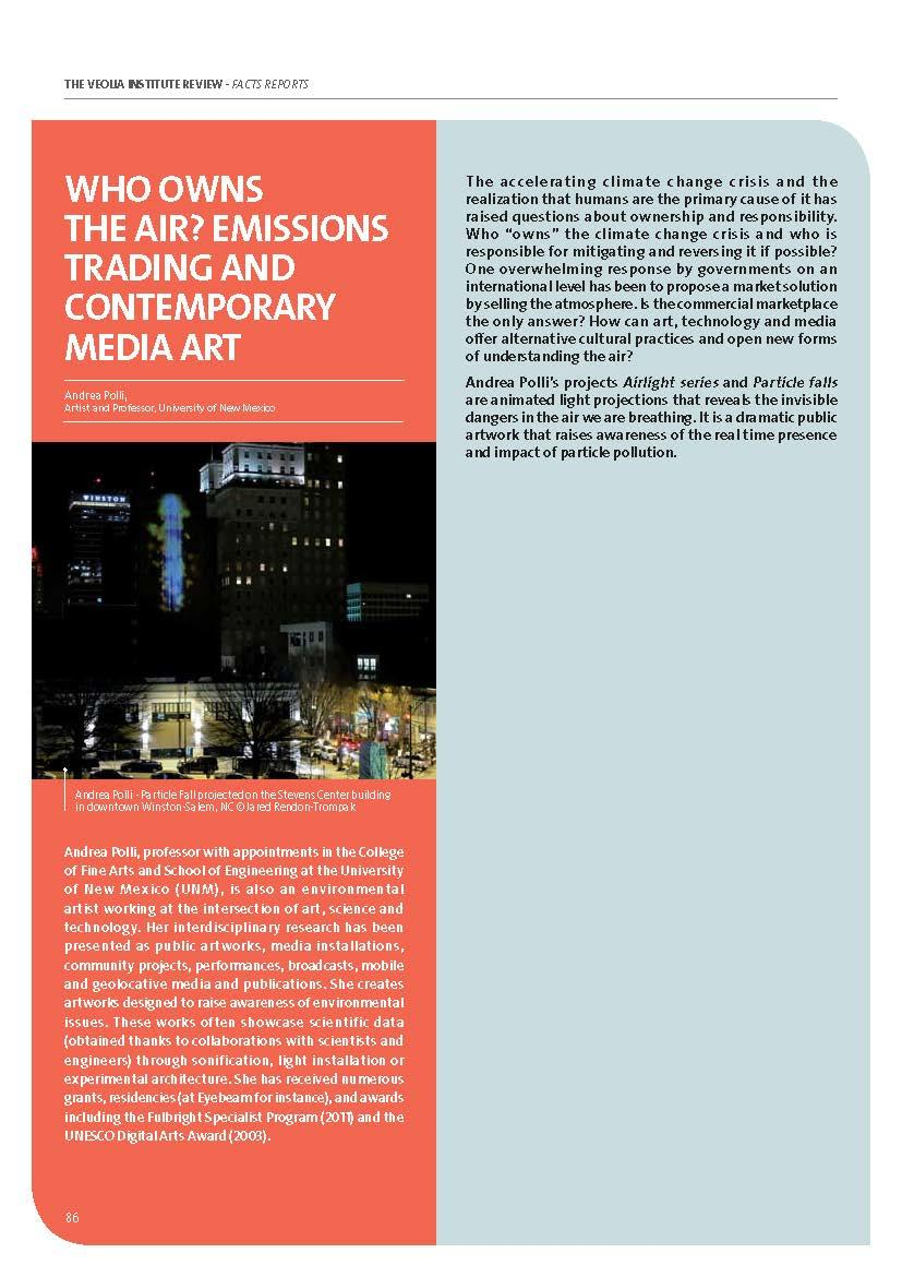 Who owns the air? Emissions trading and contemporary media art - Andrea Polli